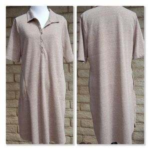LOGO Lori Goldstein Collared Shirt Dress Pocket LP
